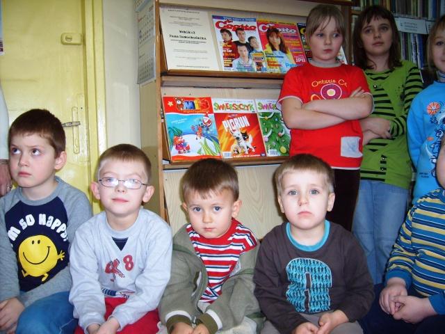 Filia Ciągowice - Wizyta przedszkolaków w bibliotece - zagadki