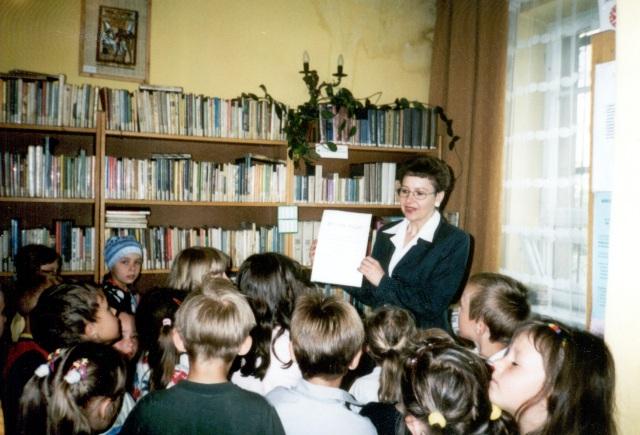 Filia w Wysokiej - lekcja biblioteczna (maj 2002 r.)