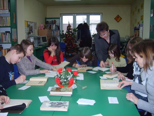 Lekcja biblioteczna - katalogowanie książek (29.01.2009)