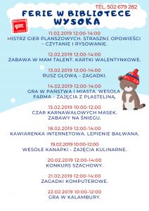 Plakat Wysoka