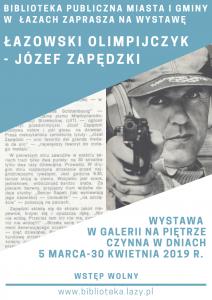 Łazowski olimpijczyk Józef Zapędzki