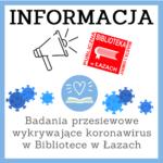 Logo informujące o badaniach na covid
