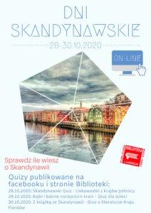 Plakat informacyjny o wydarzeniu - Dni Skandynawskie