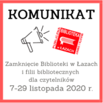 Komunikat - zamknięcie biblioteki