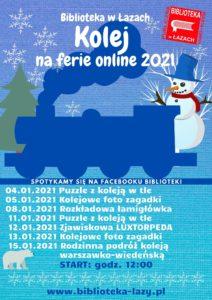 Kolej na ferie online - plakat