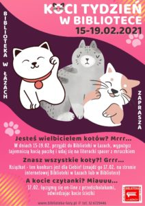 Plakat zapowiadający koci tydzień