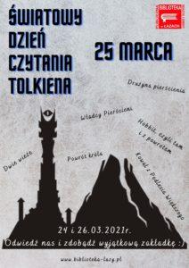 Plakat - dzień czytania Tolkiena
