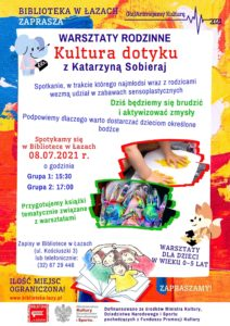 Plakat zapowiadający warsztaty Kultura dotyku