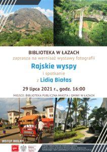 Plakat zapowiadający spotkanie z Lidią Białas