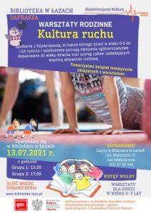 Plakat zapowiadający warsztaty Kultura ruchu