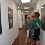 Uczestnicy spotkania Rajskie wyspy oglądający wystawę