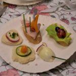Przekąski powstałe w trakcie warsztatów kultura na talerzu